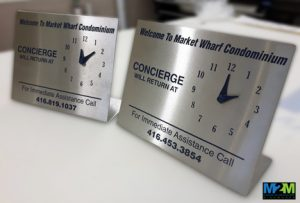 custom logo clocks