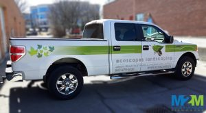 Whitchurch-Stouffville Sign Company Ecoscape Landscaping Truck Wrap wM2M 300x165