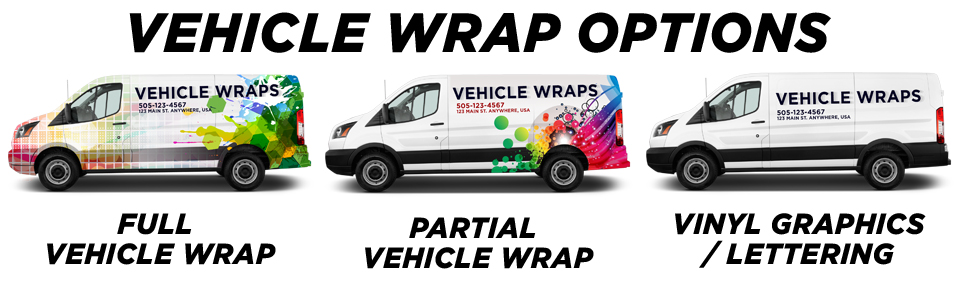 Scarborough Vehicle Wraps vehicle wrap options