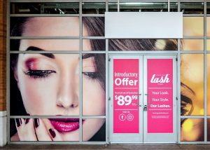 custom promotional vinyl window graphics